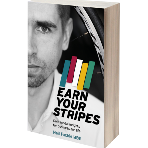 Earn Your Stripes 3D book cover.